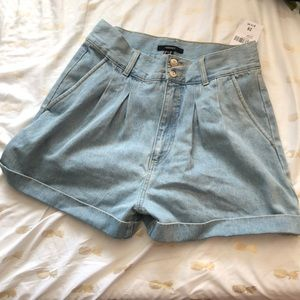 High waisted jean shorts by F21